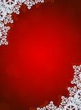снежинки красного цвета граници предпосылки Стоковые Изображения RF