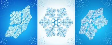 снежинки кристалла установленные Бесплатная Иллюстрация