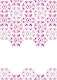 снежинки мозаики рамки Стоковые Фото