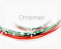 Снежинки на волне выравниваются, предпосылка рождества и Нового Года Стоковое фото RF