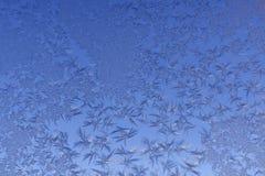 Снежинки окна картины Frost Стоковое Изображение
