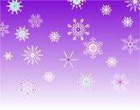 снежинки предпосылки лиловые Стоковая Фотография RF