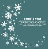 снежинки предпосылки установленные Иллюстрация штока