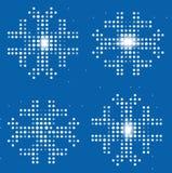 снежинки предпосылки цифровые Стоковое Изображение