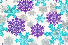 снежинки предпосылки Стоковые Изображения