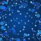 снежинки предпосылки Стоковое Фото