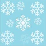 снежинки предпосылки patern безшовные Стоковая Фотография RF