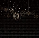 снежинки предпосылки установленные Стоковое Изображение RF