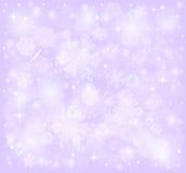 Снежинки, предпосылка снега зимы морозная Стоковое фото RF