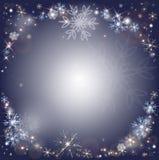 Снежинки, предпосылка снега зимы морозная Стоковые Фото