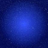 Снежинки предпосылки вектора Голубой шторм льда Стоковая Фотография