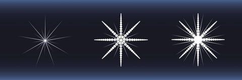 снежинки предпосылки голубые белые Стоковые Изображения