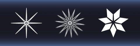 снежинки предпосылки голубые белые Стоковое Фото