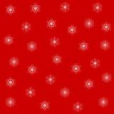 снежинки предпосылки изолированные рождеством белые вектор Стоковая Фотография