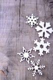 снежинки предпосылки изолированные рождеством белые стоковое фото