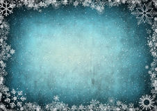 снежинки рамки размечают текст Стоковая Фотография