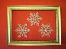 снежинки рамки Стоковая Фотография RF