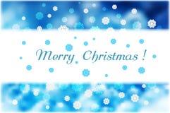 Снежинки рождества и прокладка белизны для текста на голубом конспекте b иллюстрация штока