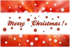 Снежинки рождества и прокладка белизны для текста на красном конспекте иллюстрация вектора