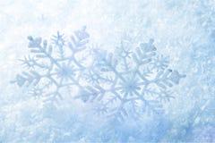 Снежинки рождества как предпосылка Стоковое Изображение