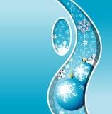 снежинки рождества карточки Стоковые Фото