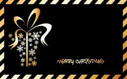 снежинки рождества коробки золотистые сделанные присутствующие Иллюстрация штока