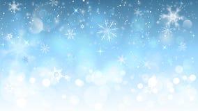 снежинки рождества предпосылки голубые стоковая фотография rf