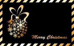 снежинки рождества шарика золотистые сделанные Бесплатная Иллюстрация