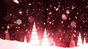 Снежинки 2 рождественской елки сток-видео