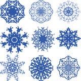 Снежинки рождества картины Иллюстрация вектора