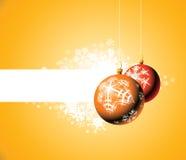 снежинки рождества шариков Стоковое Фото