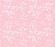 снежинки розы предпосылки безшовные белые Стоковые Изображения