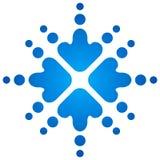 снежинки сини стрелок Стоковое Фото