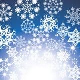 снежинки снежка рождества предпосылки голубые Стоковая Фотография RF