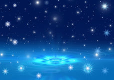 снежинки снежка рождества предпосылки голубые Стоковые Изображения