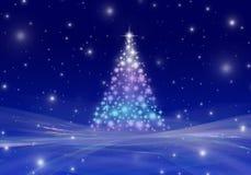 снежинки снежка рождества предпосылки голубые Стоковое Изображение RF