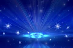 снежинки снежка рождества предпосылки голубые Стоковое Фото