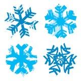 снежинки снежка grunge старые бумажные Стоковое Изображение RF