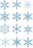 снежинки собрания Стоковая Фотография RF