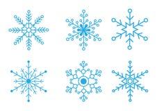 снежинки собрания иллюстрация штока