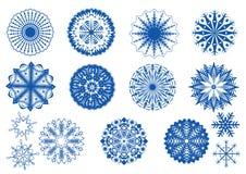 снежинки собрания Стоковое Изображение