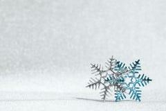 2 снежинки с звездой Дэвида внутрь Стоковые Изображения