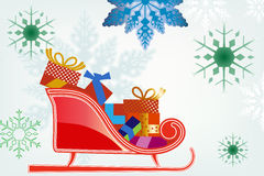 Снежинки с санями Стоковые Фотографии RF