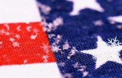 снежинки флага предпосылки Стоковое Изображение