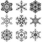 снежинки Иллюстрация штока