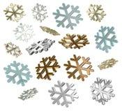 снежинки 3d иллюстрация вектора