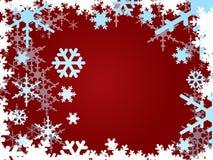 снежинки burgundy Стоковая Фотография RF