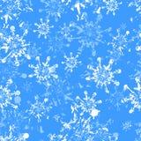 снежинки grunge безшовные Стоковая Фотография RF