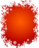 снежинки grunge рамки Стоковое Фото