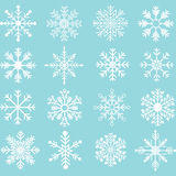 Снежинки Silhouette комплект Стоковая Фотография RF